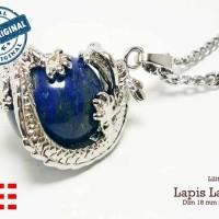VeE Liontin Terapi Kesehatan Model Lilitan Naga Batu Pasir Emas Biru