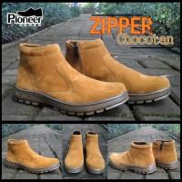 pioneer Boots zipper chocotan / Sepatu murah / best seller