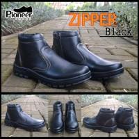 pioneer Boots zipper black / sepatu murah / best seller