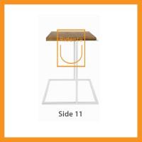 Ridente | Meja Tamu / Coffee Table / Side Table Tipe Side 11 - Hitam