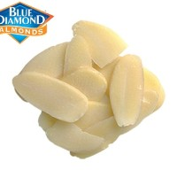 Raw Almond Blanched Slice - Almond Mentah Potong 250gr