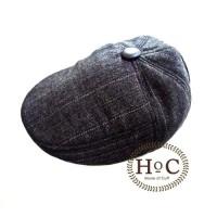HOUSEOFCUFF PAINTER HAT BLACK LINE - Hitam