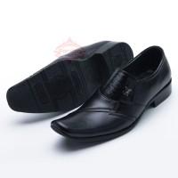 Sepatu Pria Pantofel Formal Sepatu Kerja Kulit Asli Model LV 076HT