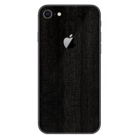 9Skin - Premium Skin Case iPhone 8 iPhone8 - 3M Black Burned Wood