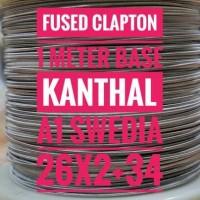 FUSED CLAPTON PER METER BASE KANTHAL A1 SWEDEN/SWEDIA 26x2+34