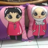 bantal couple (40x40 cm)/bantal foto/bantal custom/souvenir/kado
