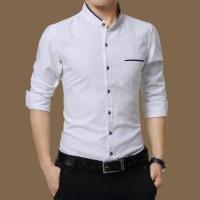 baju koko kantun stretch putih