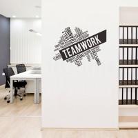 Stiker Team Work Quotes Dinding Kaca Rumah Kantor Wall Sticker Cafe
