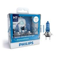 Philips Diamond Vision H7 12V 55W 5000K (Lampu Depan Putih Mobil)
