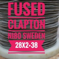 FUSED CLAPTON PER METER BASE NI80 SWEDEN SWEDIA 28X2+38
