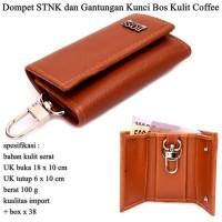Dompet STNK Kulit dan Gantungan Kunci Bos coffee