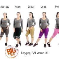 Celana legging wanita 3/4 celana grosir Bunga Warna