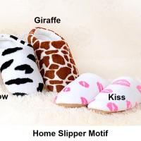 Sendal Rumah Motif Bulu Sandal Kamar Home Slipper Slippers Indoor - XL, Cow