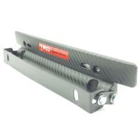 Bracket/Dudukan Plat Nomor MObil Model JDM Karbon Adjustable TRD Sport