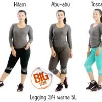 Celana Grosir Celana Legging Wanita 3/4 5L Bunga Warna