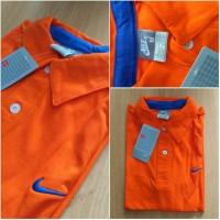 Nike Kerah Pria / Kaos Polo Pria / Nike Poloshirt Orange