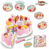 mainan anak perempuan/mainan kue potong/DIY fruit cake