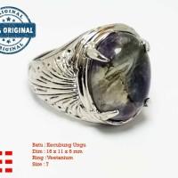 VeE Cincin Pria Batu Kecubung Ungu - Batu Akik CP09