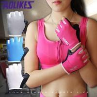 Sarung Tangan Fitness Gym Gloves Original Aolikes Sarung Tangan Yoga - M, Putih