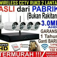 PAKET CCTV NVR KIT 4 CH 3 MP WIRELESS 4 CAMERA OUTDOOR + HDD 320GB