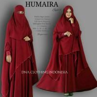 hhumaira syari setelan gamis cadar niqab polos busui tebal jumbo xl