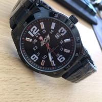 Jam Tangan Pria Murah Formal Army Edition Premium Black