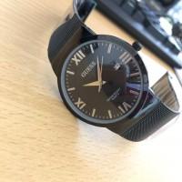 Jam Tangan Pria Wanita Murah Guess 025G Premium Pasir Full Black