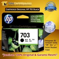 Cartridge Tinta HP 703 black Original Catridge HP D730 F735 K209a K109
