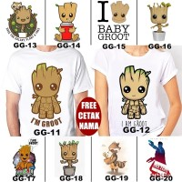 Kaos / Baju GUARDIAN OF THE GALAXY GROOT DEWASA BANYAK MOTIF FREE NAMA