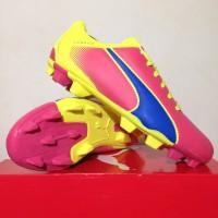 NEW Sepatu Bola Puma Adreno FG Pink Fluorescent Green 10341802 Origina