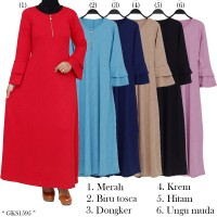 Gamis Maxi Fashionable polos jersey embos