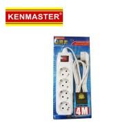 Kenmaster Stop Kontak Colokan Listrik 4 Socket Lubang 4meter