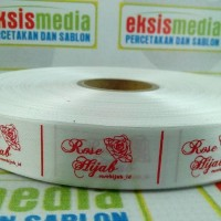 SABLON Label Satin/Label Jilbab/Label Kaos dll/ukuran 2cm x 197 m
