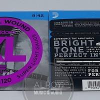 Senar Gitar Electric D' Addario XL EXL120 Super Light Gauge (Original)
