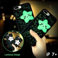 IPHONE 7 PLUS 3D SOFT CASE GLOW IN THE DARK LUMINOUS CUTE STAR CASING