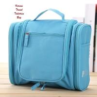 Koleksi organizer Modern    NEW Korean Travel Toiletries Bag BLUE (Tas