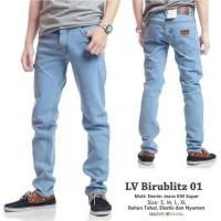 Celana Jeans Denim Pria Panjang Model Skinny Pensil Biru Bioblitz Jins