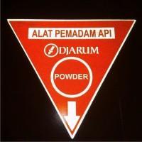 Cutting Sticker / Stiker Custom Safety Sign APAR Reflective + Fosfor
