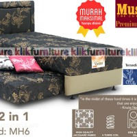 2 in 1 VIENNA MUSTERRING (set 120x200) Springbed MH6