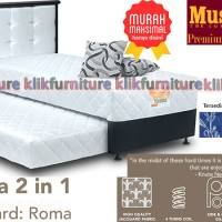2 in 1 VIENNA MUSTERRING (set 160x200) Springbed ROMA