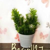 bunga daun hijau, tanaman artificial, dekorasi, bunga plastik, palsu