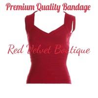 Red Bandage Top Atasan Wanita Blouse READYSTOCK PREMIUM QUALITY IMPORT