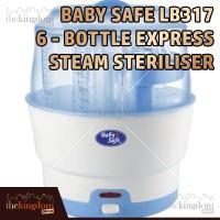 Baby Safe LB317 6-bottle Express Steam Steriliser Alat Steril Botol