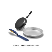 Maxim Crepes Pan Wajan Teflon Set 3 buah Crepes Maker