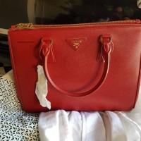 Sale Jual Rugi Tas Wanita Prada Original Saffiano New Red
