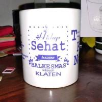 souvenir gelas  mug keramik sablon