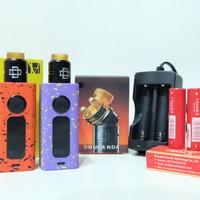 paket ngebul mod hugo boxer v2 kit RDA druga AWT charger Liquid vape