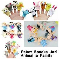 Paket Hemat Boneka Jari Animal dan Family (hewan Keluarga) 16 pcs