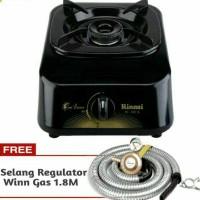 Kompor Gas 1 tungku Rinnai +paket regulator Wingas/ quantum rinai mur