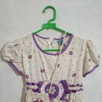 baju anak motif bunga warna ungu